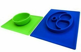 2 Pack Silicone Placemats For Kids Plate And Bowl, Table Mess Protection - $27.16