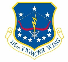 USAF 115th Fighter Wing 12'' Sticker Military - $24.74