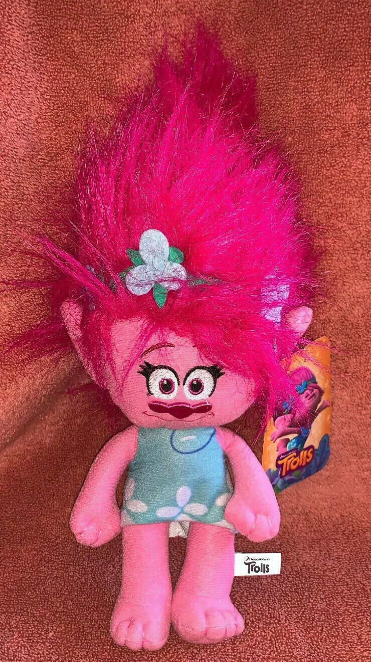 "Primary image for Trolls Poppy Plush Stuffed Toy 13"" Doll Dreamworks Toy Factory Girl Pink Hair"