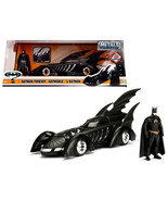 1995 Batman Forever Batmobile with Diecast Batman Figure 1/24 Diecast Mo... - $51.94