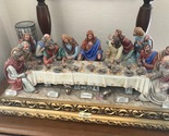 """Capodimonte Porcelain """"The Last Supper""""Made In ITALY 24"""" x 12"""" x 8.5"""" by Cortese - £1,855.88 GBP"""