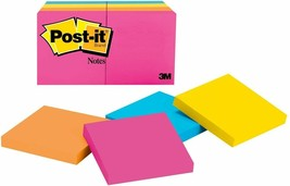 """Post-it Notes 3"""" x 3"""" Neon Collection Sticky Notes, 8 Pads/Pack"""