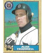 Baseball Card- Alan Trammell 1987 Topps #687 - $1.00