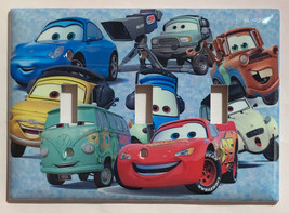 Cars characters McQueen Light Switch Power Outlet wall Cover Plate Home Decor image 5