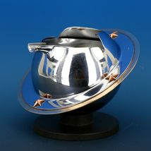 Art Deco 1939 Revere Saturn Syle Nickel Plated Brass & Copper Ash Tray Receiver image 4