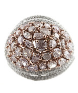 Real 4.50ct Natural Fancy Pink Diamonds Engagement Ring 18K Solid Gold 9G - $15,697.58
