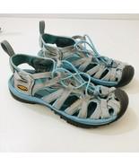 KEEN Whisper Sandals Waterproof Water Hiking Shoes Gray Blue Womens US S... - $51.43