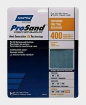 Norton ProSand SANDPAPER SHEETS 3 ct Finishing 400 Grit Fine All Surface... - $8.99