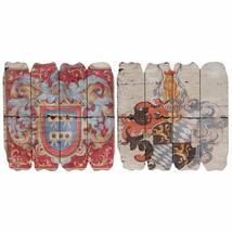 "Antiqued Wood Wall Decor Plaque 18""x18"" Set Of 2 - 35213 - $64.34"