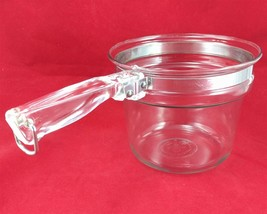 Pyrex Flameware 6283U 1½ qt Vintage Glass Saucepan w/ Stainless Steel Band - $25.00