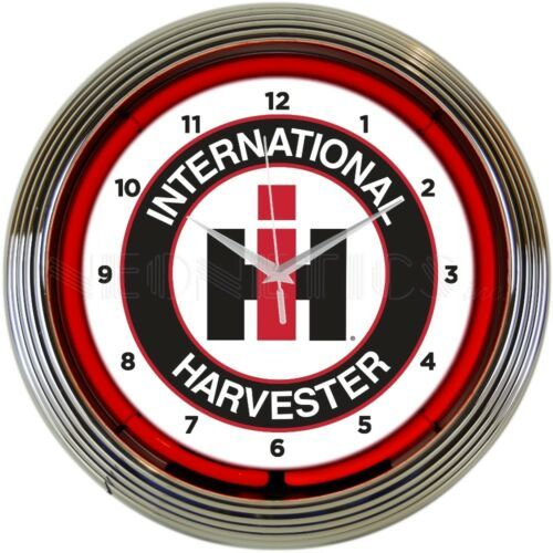 "Primary image for International Harvester Auto Car Garage Neon Clock 15""x15"""