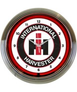 "International Harvester Auto Car Garage Neon Clock 15""x15"" - $69.00"