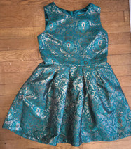 * The childrens place green floral embroidered fancy party dress size 12... - $19.70