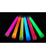 Set of 12 White Jumbo 6 Inch 12 Hour Safety Glow Sticks - $19.95