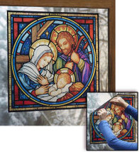 Holy Family Nativity Window Vinyl - $47.95