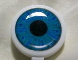 BLUE EYEBALL Badge ID Reel Large Face plastic holder work card pull whit... - $4.94