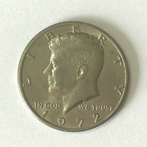 1972 American HALF DOLLAR with Kennedy USA fifty 50 CENT PIECE coin - $4.58