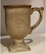 Bombay Company Pedestal Mug Tan With  Brown Speckles - $11.88