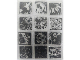 Inkadinkado Inchies Bugs and Flowers Clear Stamp Set