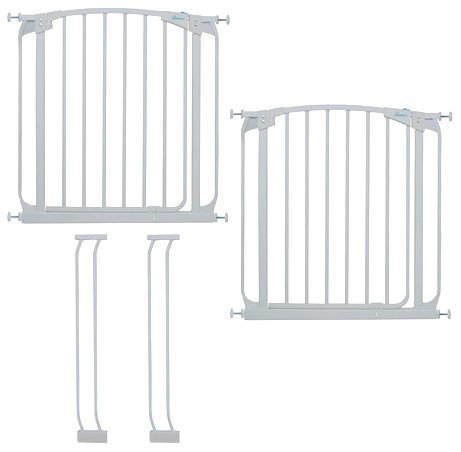 Dreambaby Chelsea Auto Close Security Gate in White Value Pack (Includes 2 Gates