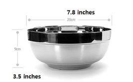 Queensense Stainless Steel Bowl Kitchen Soup Dish 7.8 inches (2 Counts) image 6