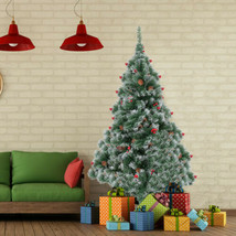 Artificial Christmas Tree 6 Foot Flocked Snow Trees with  Decoration US - $108.44