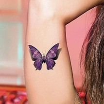 TAFLY 5Sheets Sexy Colorful Butterfly Waterproof Temporary Tattoo Sticker Water - $12.50