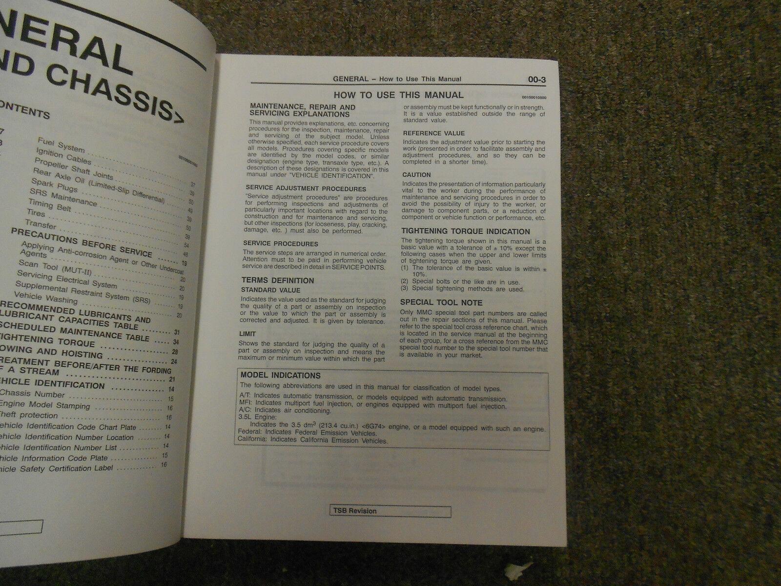 2000 MITSUBISHI Montero Shop Service Repair Manual Set FACTORY BOOKS FEO 00 x
