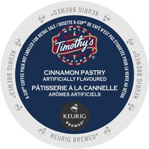 Timothy's Cinnamon Pastry Coffee, 48 count Keurig K cups, FREE SHIPPING  - $37.99