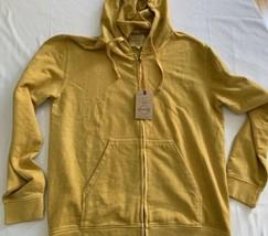 Weatherproof Mens Jacket Sz L Golden Rod Yellow  Vintage Hoodie Full Zip... - $23.74
