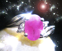 Haunted RING EGYPT GODDESS FEMALE DJINN Genie VESSEL RUBY MAGICK Cassia4  - $267.77