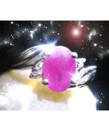 Haunted RING EGYPT GODDESS FEMALE DJINN Genie VESSEL RUBY MAGICK Cassia4  - $267.77