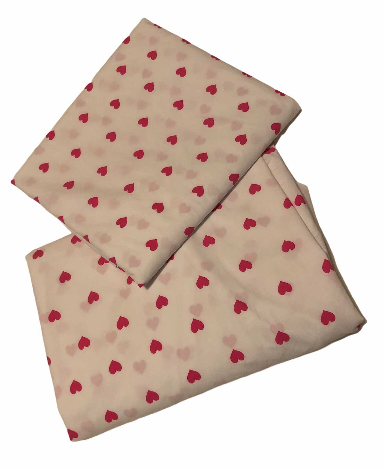 Pottery Barn Kids Heart Sheets Fitted/Flat Twin Bright Pink  - $36.69