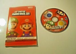 New Super Mario Bros. Wii (Nintendo Wii, 2009) - DISC & MANUAL Generic C... - $22.65