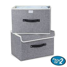 Storage Bins,Mee'life Set of Two Foldable Storage Box with Lids and Hand... - $56.00