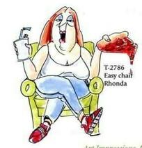 Art Impressions Golden Oldies Easy Chair Rhonda Stamp  #UMT2786