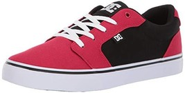 DC Men's Anvil TX Skate Shoe, red/Black, 11.5 M US - $38.89