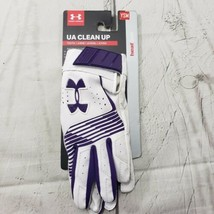 Under Armour Batting Gloves Youth Size Small UA Clean Up Heat Gear White... - $25.73
