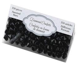 Lillian Rose Party Decor Crystal Diamond Table Confetti Black - $12.54