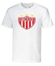 Club Necaxa T-Shirt 100% Cotton  White,Black,Red Crew Neck - $19.79+
