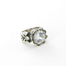 King Baby Studio Queen Sterling Silver 13mm Crown Ring w/CZ Q20-9044F Sz... - $378.29