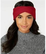 DKNY Twisted Ribbed Knit Headband, Red - $16.83