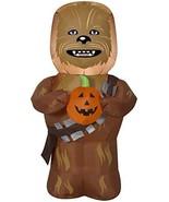 Gemmy 3.5' Star Wars Airblown Chewbecca w/Pumpkin Halloween Inflatable - $85.99