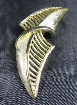 "Vintage Fashion Jewelry Lady Leaf Coro Brooch Retro Gold Color 2""3/4 image 5"