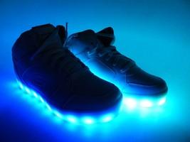 Skechers Niño Lights Energía Luminoso Talla 5 y Eu 37 Altas Zapatillas - Blanco