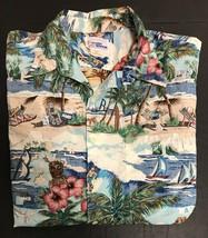 Reyn Spooner Mens XL Hawaiian Aloha Shirt Button Up AMB Tiki Sailing Bea... - $37.39