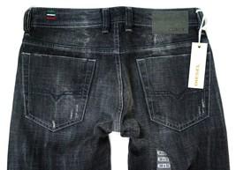 New Diesel Men's Designer Denim Straight Leg Black Distressed Jeans Viker 008UP