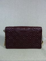 NWT Tory Burch Claret Fleming Wallet Cross Body Bag $328 image 4