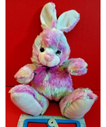 Rainbow Bunny Plush Easter Rabbit Stuffed Animal Goffa Colorful Soft Toy... - $5.69