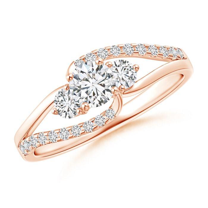 0.71ct Three Stone Natural Diamond Engagement Ring 14k Gold/Platinum Size 3-13